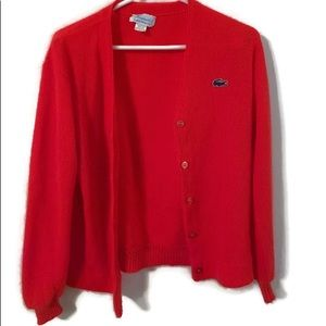 vintage haymater lacoste red sweater